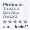 Winner of Platinum Trusted Service Award 2020 for consistently great feedback